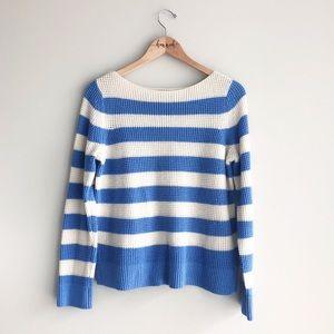 NWOT GAP | Blue/White Wool Blend Knit Sweater